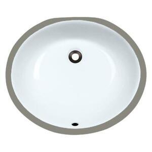 NEW UPM-White Undermount Porcelain Bathroom Sink, Sink Only Condtion: New, White