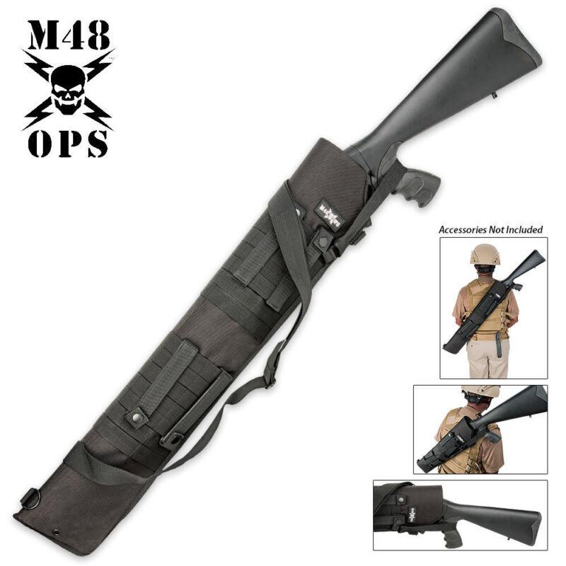 M48 OPS Tactical Shotgun Scabbard MOLLE Compatible Range Bag Sheath Black