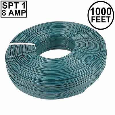 Novelty Lights 1,000 Foot Zip Cord Wire, Green, 18 Gauge, SPT-1