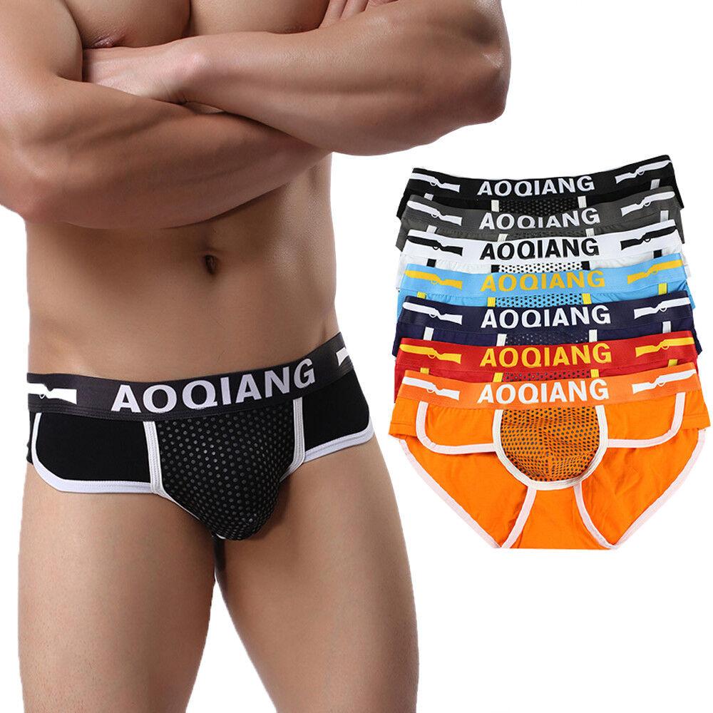 Fashion Men's Boxer Briefs Shorts Soft Cotton Underwear Bulge Pouch Underpants o