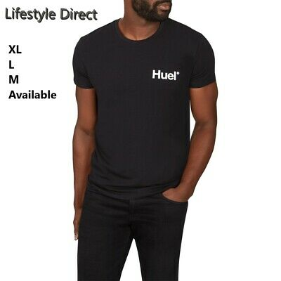 Black Huel Cotton T-Shirt/ Comfortable/Fitness/