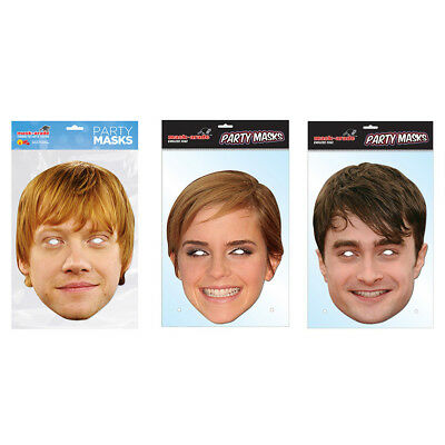 Harry Potter Film Movie Stars Character Face Parties Mask Celebrities - Movie Character Masks