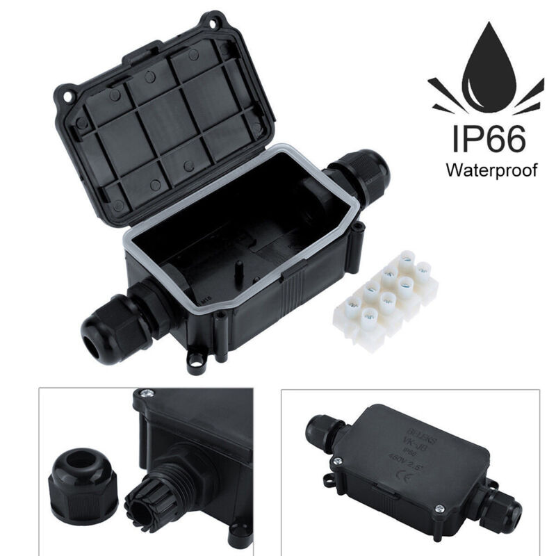 2/3 Way Waterproof Junction Box Underground Cable Line Protection Connectors