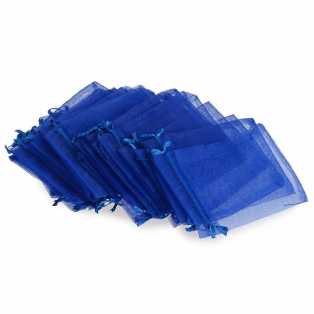 24PCS Candy Gift Bag Pouch Wedding Party Royal Blue Gauze Hot HY
