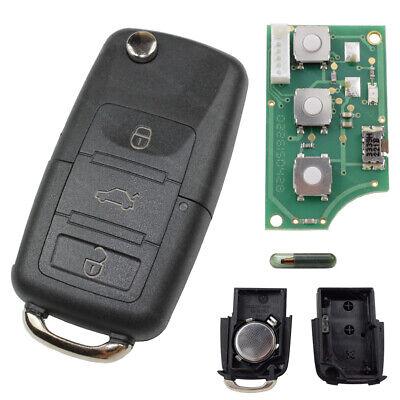Llave Plegable 434MHZ + Bruta + Transpondedor Coche Nuevo Apto Para VW