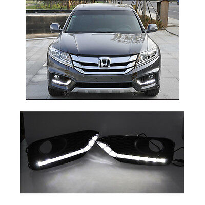 2pcs White LED Daytime Running Light DRL Lamp For HONDA Crosstour 2013-2015