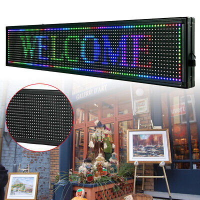 Led Sign 40x8 Outdoor Scrolling Message Display Board 7color Programmable Sale