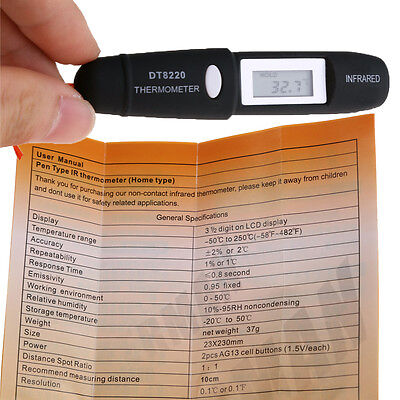 -50220 Pen Type Mini Infrared Thermometer Ir Temperature Measuring Lcd Display