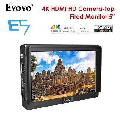 "Eyoyo E5 5.0"" IPS On-Camera Field Monitor Support HDMI 4K For DSLR Camera Video"