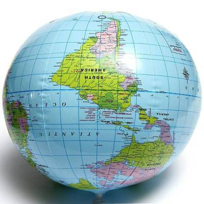 Inflatable Blow Up World Globe 40CM Earth Atlas Ball Map Geography Toys Gift
