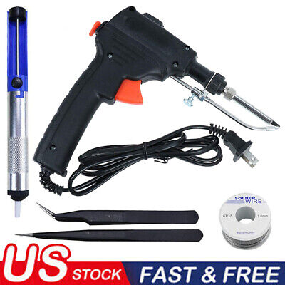 60w Auto Electric Soldering Iron Gun With Flux 2 Solder Wire Tin Wire 50g Usa