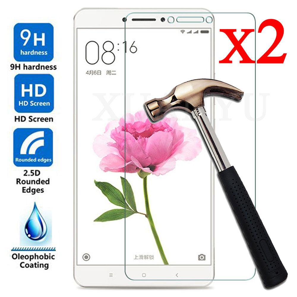 2Pcs 9H Premium Tempered Glass Film Screen Protector For Xiaomi Mi Max 2 Mimax 2