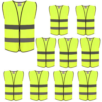 10 Packs Zojo High Visibility Construction Safety Vests Ansiisea 107-2015