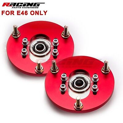 - Camber Plates Fit BMW E46 Pillow Adjustable 318 325i 325is M3 Coilover Kit Great