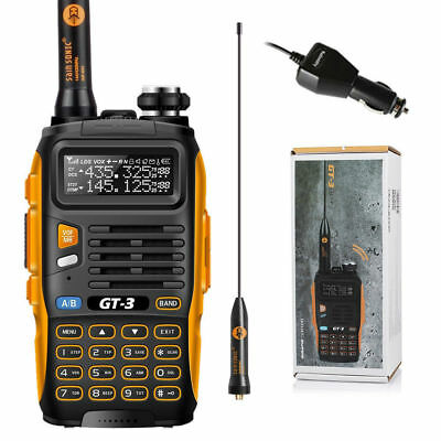 Baofeng GT-3 MarkII VHF/UHF FM LED Flashlight Ham Two-way Radio Walkie Talkie