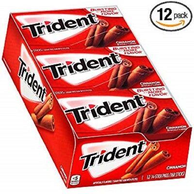 Trident Sugar Gum Cinnamon Flavor 14 Sticks / 12 Count Cinnamon Flavor Mints