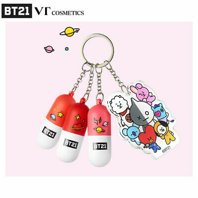 BTS BT21 Official VT Cosmetics Mini Lippie Stick KIT 1.4g * 3 + Tracking Code