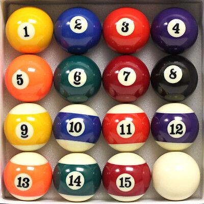 Felson Billiards Supplies New 16 Pool Table Billiard Ball Set