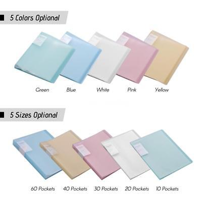 A4 Presentation Display Book Papers Documents File Filing Clear Page Protector
