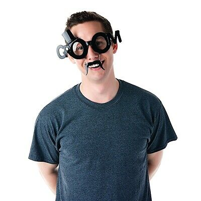 Team Groom Bachelor Party Novelty Shades Costume Sun-Staches UV400 (Bachelor Party Sunglasses)