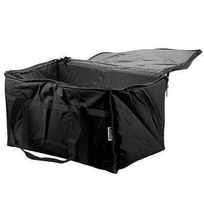 23 X 13 X 15 Black Insulated Nylon Food Delivery Bag Pan Carrier