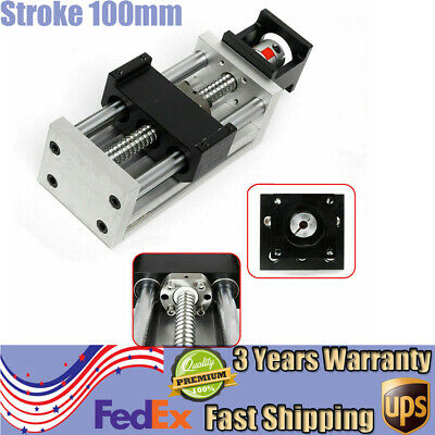 Sliding Table Manual Ball Screw Linear Stage Actuator Cnc Slide Stroke 100mm Hot