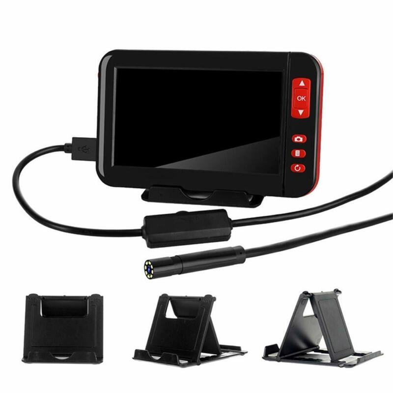 Screen Endoscope Camera 4.3 In Industrial Borescope 8mm 1080P HD Display US