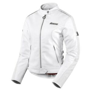 Ladies Hella white motorcycle jacket.