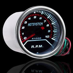 2 1/16 Inch 52mm Smoke Len Pointer Car Motor Tacho Tachometer Gauge Meter #CG12