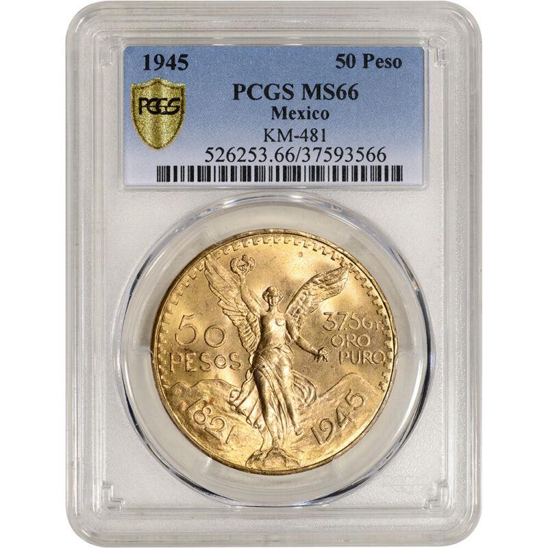 1945 Mexico Gold 50 Pesos - PCGS MS66 KM-481