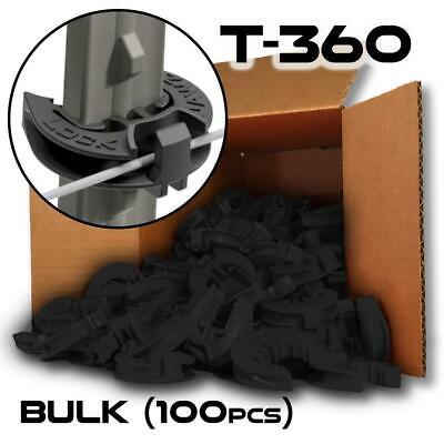 Lockjawz Bulk Electric Fence T Post Insulators - Black T-360