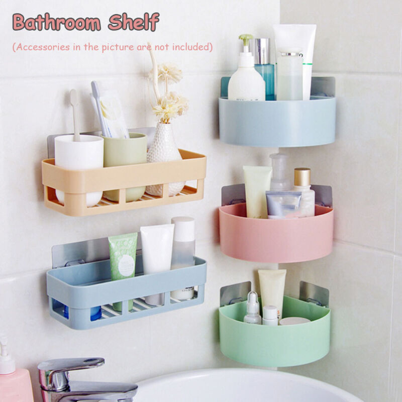Kitchen Shower Gel Organizer Bathroom Shelf Shampoo Corner Storage Rack