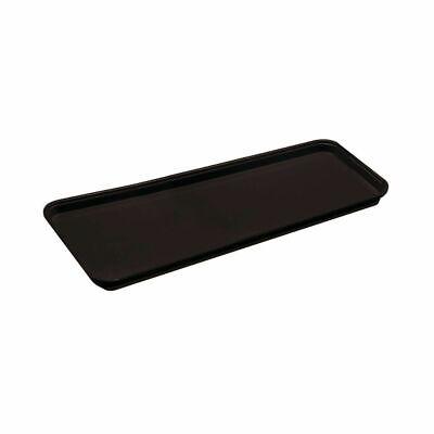 """2 pack Hubert Black Fiberglass Market Display Tray - 30""""L x 6""""W x 3/4""""H 79446"""