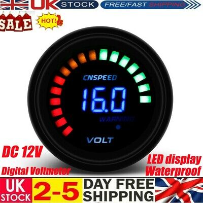 Waterproof 12V LED Car Van Boat Marine Voltmeter Voltage Meter Battery Gauge U K