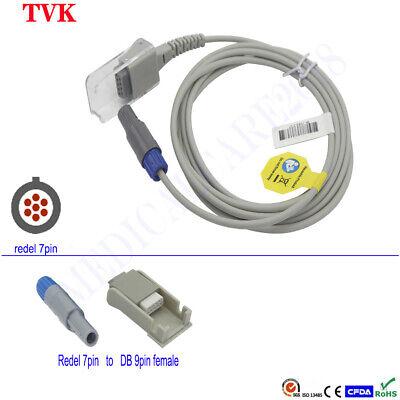 Bionet Spo2 Sensor Extension Cable For Bm3vet Redel 7pin Db9pin Compatible