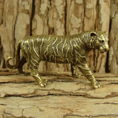 Solid Brass Tiger Figurines Statue Decoration Ornament Wild Animals Figurines