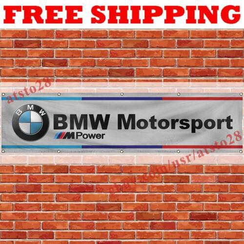 BMW M Power Motorsport Banner Flag 2x8 ft Car Show Garage Wall Decor Sign NEW