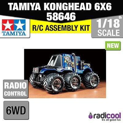 New! 58646 TAMIYA KONGHEAD 6X6 G6-01 1/18th SCALE R/C RADIO CONTROL KIT