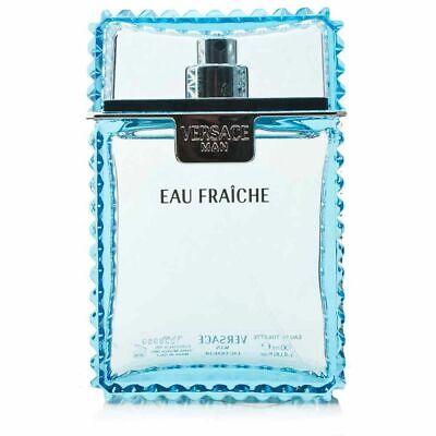 Versace MAN EAU FRAICHE  Perfume 3.4 oz EDT 100 ml for Men TESTER In Box no cap