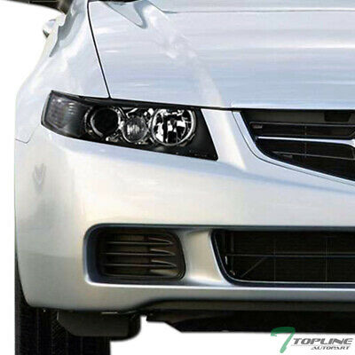 Topline For 2004-2008 Acura TSX JDM Black Housing Projector Headlights Signal Nb