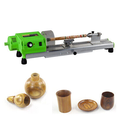 480w Mini Lathe Machine Diy Wood Lathe Mini Bench Drill 110vac For Wood Plastic