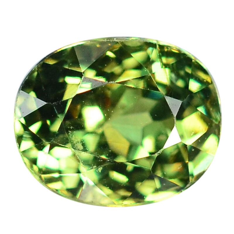 1.17 Ct. Rare Stunning Luster Green Demantoid Garnet WITH GLC CERTIFY