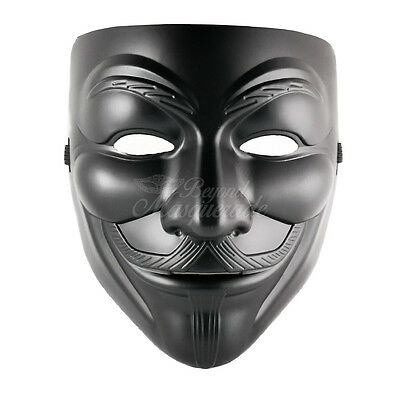 Mens V for Vendetta Masquerade Costume Halloween Guy Fawkes Mask - V For Vendetta Mask Costume