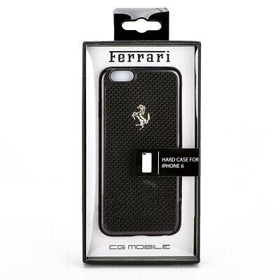 Ferrari GT iPhone 6 & iPhone 6s Aluminium Hard Snap Cover Case - Black Carbon