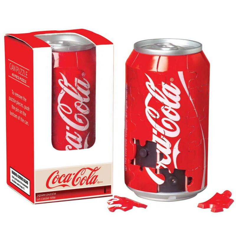 SPRINGBOK 3D Coca-Cola Can 40pc Puzzle True-to-Size Coke Jigsaw NEW