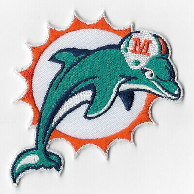 Miami Dolphins Iron on Patches Embroidered Badge Patch Applique Logo