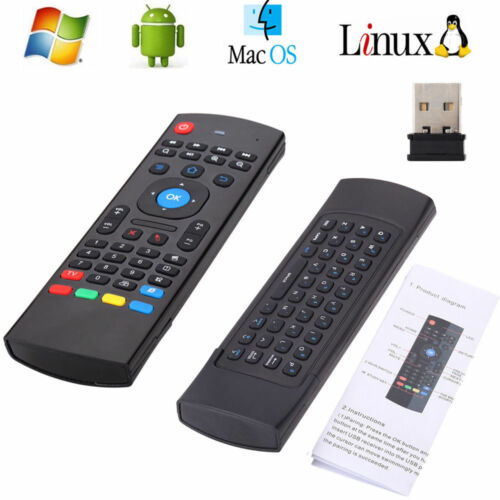 5 Pcs Mx3 2.4g Wireless Air Fly Mouse Keyboard Remote Con...