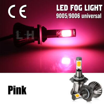 9005 HB3 9006 HB4 80W  High Power LED Fog Light Bulbs Car Driving Lamp DRL Pink
