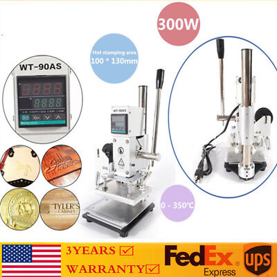 Mechanical 10 13cm Hot Foil Stamping Machine 110v Gold Embossing Logo Printing