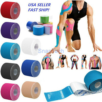 5Cm X 5M Kinesiology Sports Physio Elastic Muscle Pain Care Therapeutic Tape